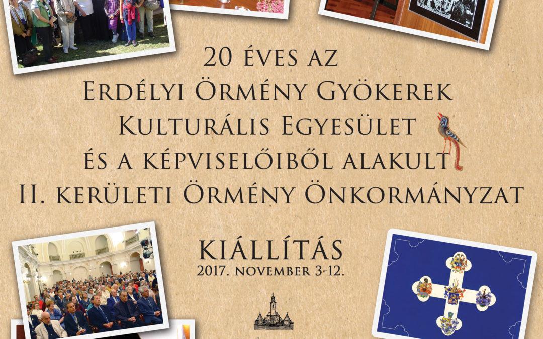 20 éves az Erdélyi Örmény Gyökerek Kulturális Egyesület és a Képviselőiből alakult II. kerületi Örmény Ökormányzat