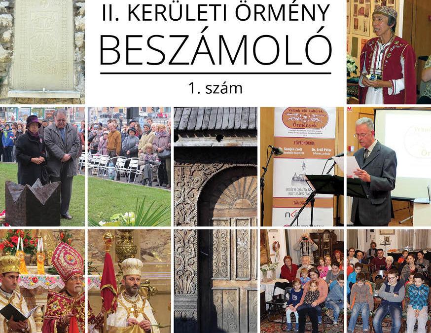 Budapest Főváros II. kerület Örmény Önkormányzat Beszámolója 1-2., (Szerkesztette: Issekutz Sarolta)