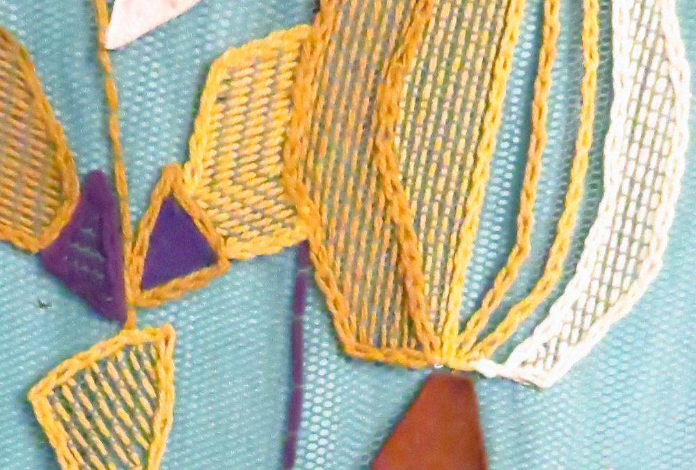 Válogatás Olaszné Zakariás Anna  textiltervező munkáiból